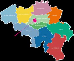 West-Vlaanderen, Oost-Vlaanderen, Antwerpen, Limburg, Vlaams-Brabant, Brussels (capital region), Brabant Wallon, Hainaut, Namur, Liège, Luxembourg
